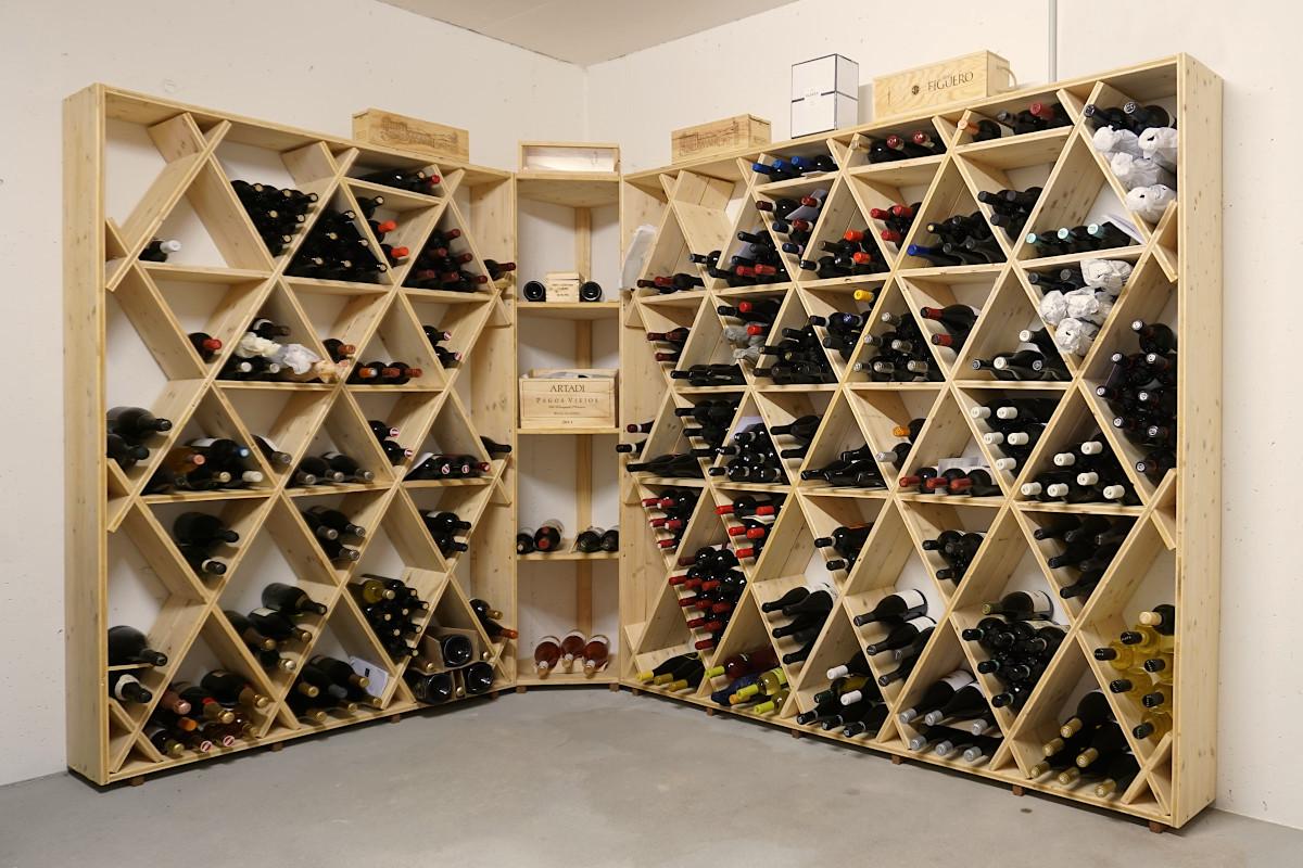 Das Naturliche Weinregal Aus Massivholz Ideal Fur Jeden Weinkeller